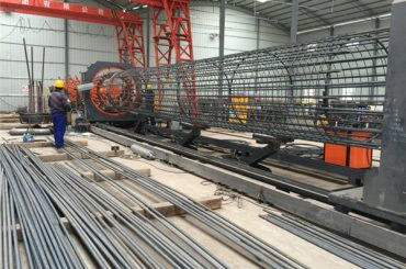 中国製の簡単な操作耐久性と丈夫な品質保証スチール鉄筋ケージ溶接機と強化ケージの製造